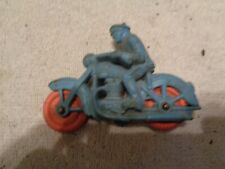 Vintage Auburn Rubber Blue Motorcycle