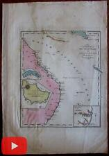 Australia New Holland New South Wales c.1814 Gridley Carey rare map Norfolk isle