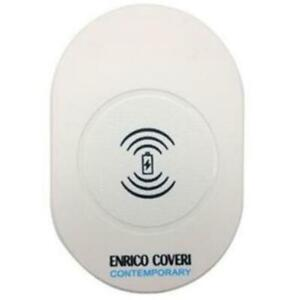 ENRICO COVERI CONTEMPORARY CARICABATTERIE WIRELESS CON CAVO USB INCLUSO, BIANCO