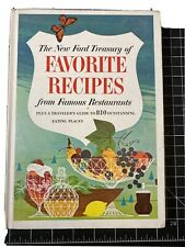 1963 Cookbook The New Ford Treasury Of Favorite Recipes from Famous Restaurants