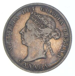 Better Date - 1899 Canada 25 Cents - SILVER *363