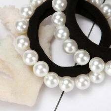 Hair Rope Tie Band Wrap Charming Pearl Elastic Hair Bands Headband Accessories