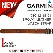 Garmin Brown Leather Watch Strap Band│Fenix 3/3 Sapphire/D2 Bravo/Tactix Bravo