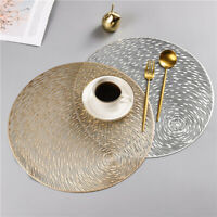 38CM Hollow Round Table Insulation PVC Mat Tea Coffee Cup Coaster Placemat Pad
