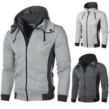 Men Pullover Sweatshirts Hoodie Slim Fit Zip Jacket Coat Loose Autumn Tops NG09