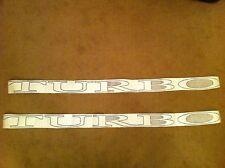 Renault Fuego Turbo Side  Decals Stickers Dark Grey/Black 7700756663 7700756659