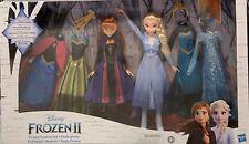 Frozen 2 Elsa and Anna Dress up Fashion Set Dolls Gift Bithday Christmas