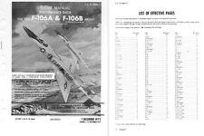 Convair F-106 Delta Dart 1970's historic Jet manuals period archive RARE detail