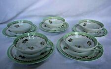 5 tasses à thé ou café en porcelaine de Limoges Giraud
