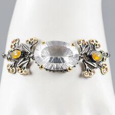 Vintage Natural Quartz 925 Sterling Silver Bracelet Inches 8/BR03432