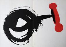 MIRO LITHOGRAPH +COA gift unique Joan Miró vintage print 1962 litógrafo RARE ART
