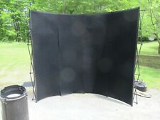 10 Popup Curved Trade Show Booth Display Backdrop Withpodiumcase