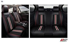 Deluxe Black PU Leather Full Set Seat Covers For Mercedes C E S G Class AMG