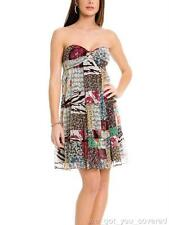 NWT Guess Womens Junior Michelle Patchwork Summer Tube Top Dress Size 5 Small S