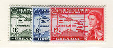 GRENADA 1958 CARIBBEAN FEDERATION BLOCKS OF 4 MNH