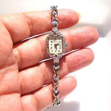 Antique Hamilton 14 W Gold & .65ct Vs Diamond 18.5gr Lady's Watch Fine Jewelry