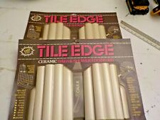 2 Pack -Ceramic Title Edge for bath , Shower & Counter