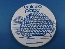 ONTARIO PLACE AMUSEMENT PARK TORONTO CANADA NOW CLOSED VINTAGE SOUVENIR BUTTON