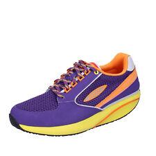 scarpe uomo MBT 1996 45 EU sneakers viola tessuto pelle dynamic BX896-45