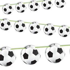 Fußball Raumgirlande, 12 m Länge, beidseitiger Druck, Raumdeko zur Fußballparty