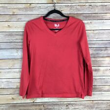 6006160db119 Sonoma Intimates Womens Sleep Top Cotton Knit V Neck Tee Semi Fitted Solid S
