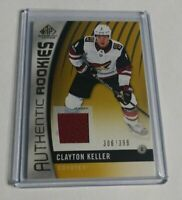 CLAYTONKELLER - 2017/18 SP GAME USED - ROOKIE JERSEY - #306/399 - COYOTES -