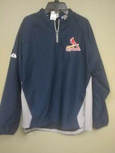 Majestic BOYS St Louis Cardinals  1/4 Zip Convertible Cool Base Jacket New XL