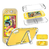 Transparent Clear Hard Cover Case with Kickstand for Nintendo Switch Lite 2019