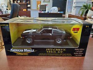 Rare 1972 Chevy Vega GT Black 1:18 American Muscle ERTL DieCast NOS 1/5000