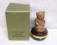 Silvestri Teddy Bear Porcelian Hinged Box