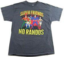 SUPER FRIENDS No Randos Saturday Cartoon Superheroes Retro T Shirt Size XL