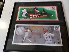 Mark McGwire 70 home run and 500 home run envelopes mounted for hanging - new