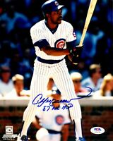 Andre Dawson autographed signed inscribed 8x10 photo MLB Chicago Cubs PSA COA