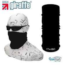 G272 Jet Black Balaclava Bandana Face Mask Neck Tube Scarf Snood Warmer headgear