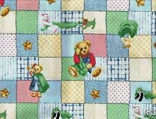 1 1/3 Yards of Teddy Bear Cotton Fabric
