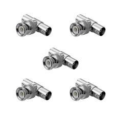 5x BNC Splitter - Verteiler; T-Adapter; BNC Stecker auf 2x BNC Kupplung