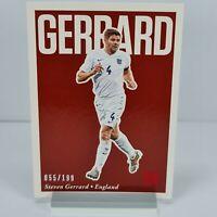 Steven Gerrard Panini Nobility Soccer Red 55/199 #73 2017 England Sports Card