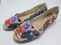 New Aerosoles Shoes Wedge Pump 12 W Floral Women's Memory Foam Spring Break