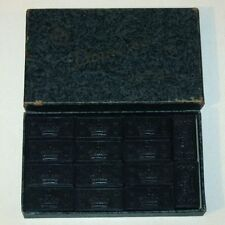 Vintage Double Six Crown DOMINOES in Original HAHNE's Gift Box! EMBOSSING Co.