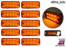 10X 12 VOLT ORANGE SIDE MARKER LIGHT INDICATOR LAMPS TRUCK LORRY LGV HGV BUS LED