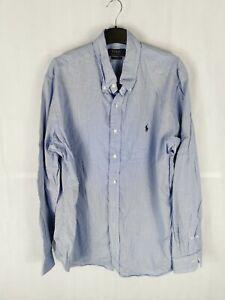 Mens POLO Ralph Lauren Formal Shirt Size XL Blue Check Long Sleeve