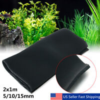 2X1m Biological Cotton Filter Sock Foam Aquarium Fish Tank Sponge