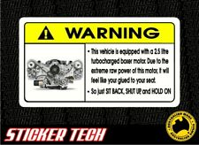 WARNING EJ25 STICKER DECAL TO SUIT SUBARU WRX IMPREZA TURBO BOXER STI GDA MY06