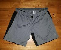 NWT Men's Grey/Black REEBOK Poly Blend Athletic Shorts Size XL X-LARGE