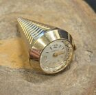 Bulova Caravelle West Germany Wind Up Pendent Necklace Watch Cone 17 Jewels Work