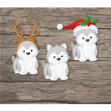 Metal Cutting Dies Christmas Dog Greeting Cards Scrapbook Embossing Craft Decor