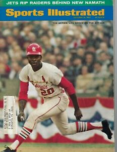 1967 10/16 Sports Illustrated baseball magazine Lou Brock St. Louis Cardinals VG
