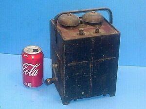 ANTIQUE TELEPHONE HAND CRANK MAGNETO GENERATOR RINGER BELL BOX