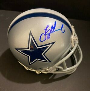 Troy Aikman Autographed Dallas Cowboys Mini Helmet HOLO