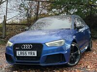 2015 Audi RS3 2.5 TFSI Quattro Auto + Sepang Blue + Pan Roof + Super Sports FASH